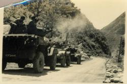 Armoured Cars firing at the hillside