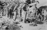 GOC inspecting arms and ammunition at Atgram, November 1971