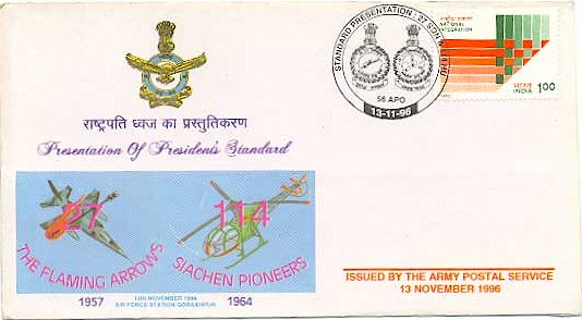 Presidents Standards to No.27 Squadron and No.114 HU