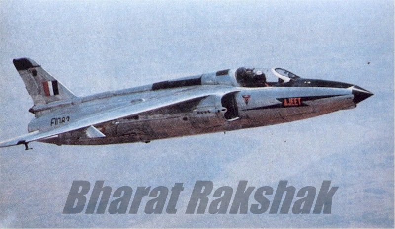 HAL's prototype Ajeet (E1083) in flight.