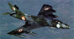 Hunter F.56 BA360A in flight.