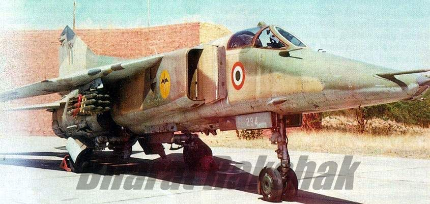 A MiG-23BN (SM294), from No.10 Winged Daggers Squadron