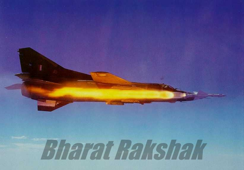 MiG-23MF launches a R-23R (AA-7 Apex-A)