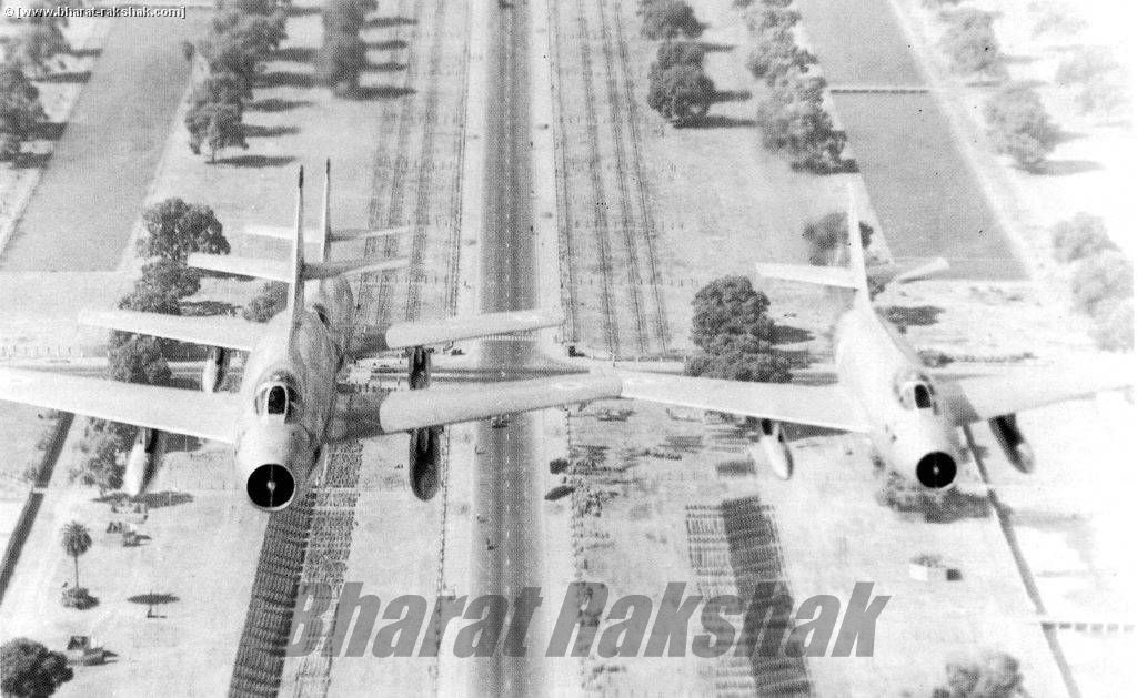 Flying over Rajpath