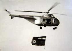Sikorsky S-55 [IZ648] with the IAF ensign.