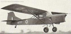Auster AOP [IN757] in flight