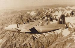 An-12 [BL533] flying over the Himalayas (c.1964)