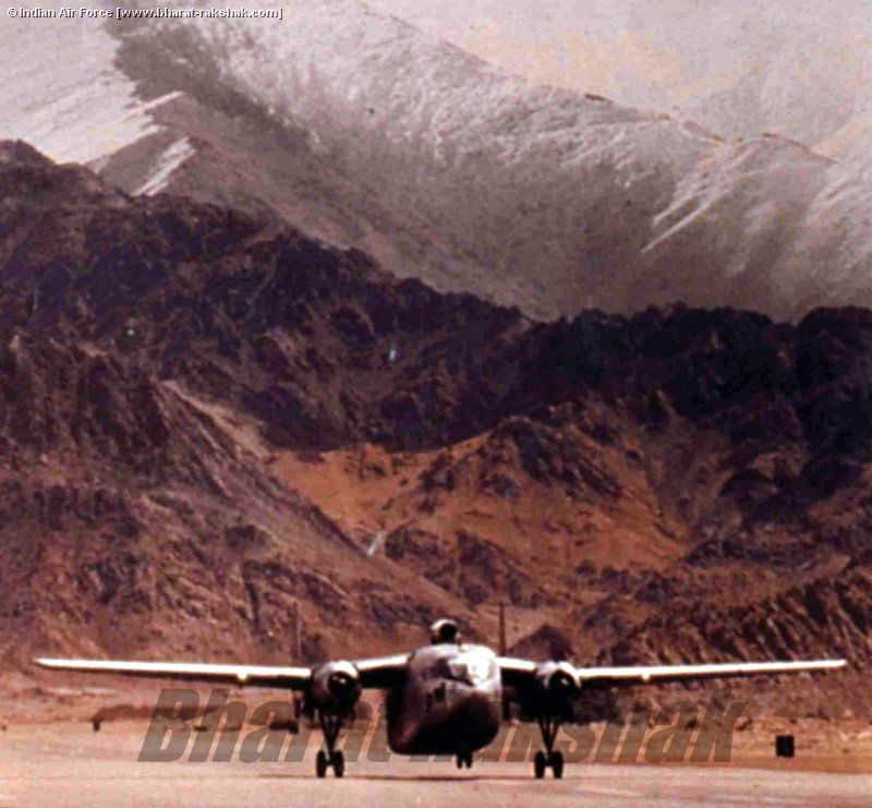 C-119 Packet taking off from Leh.
