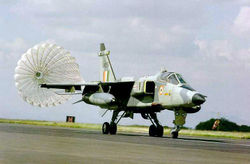 Jaguar IM deploys chute on landing