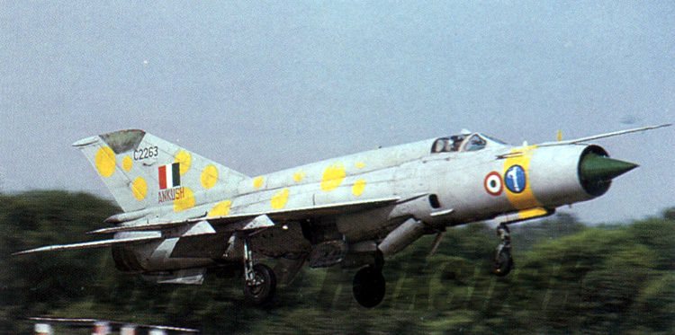 MiG-21bis from the Ankush Squadron.