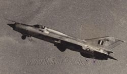 An early MiG-21FL taking off.- possibly C580