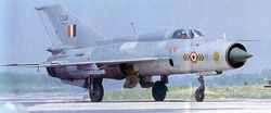 MiG-21FL (C1128), from No.1 Tigers Squadron
