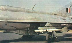 Close-up of the GP9 Gunpack on a MiG-21FL