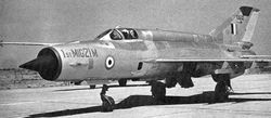 The first MiG-21M manufactured by HAL Nasik.