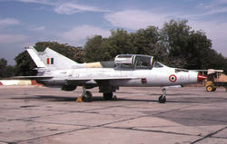 A MiG-21U (U404) with a MOFTU  badge