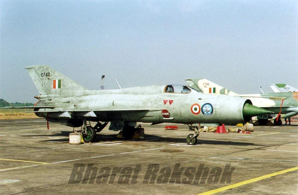 MiG-21FL (C743), from the No.8 Squadron