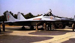 MiG-29 (KB702) worked on by ground crew