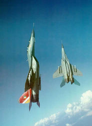 Reach for the Sky - MiG-29s go vertically up