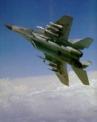 A fully armed MiG-29