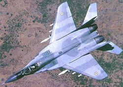 Top view of a MiG-29