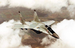 An unarmed MiG-29, possibly from 223 Squadron