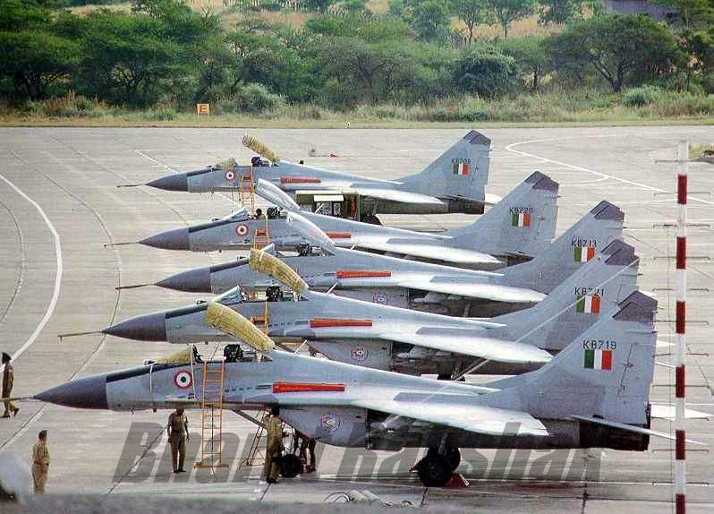 Line up of MiG-29s at Lohegaon