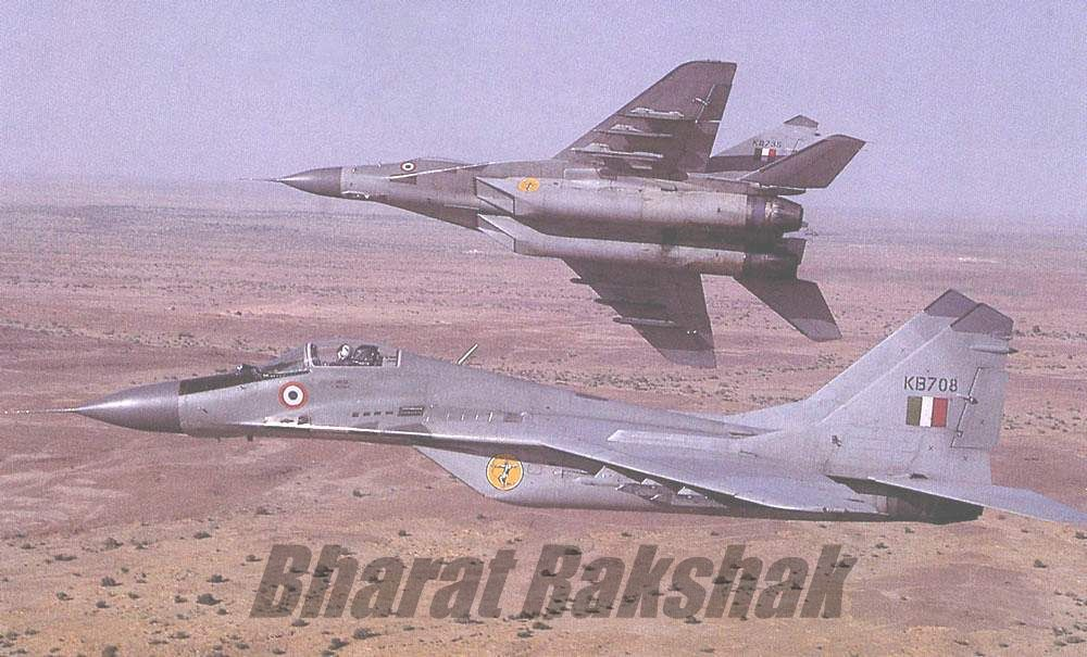 MiG-29 Fulcrums over the Deccan