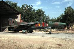 A MiG-23UM, from No.29 Scorpios Squadron