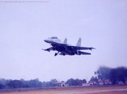 Flanker takes off at Aero India 2003