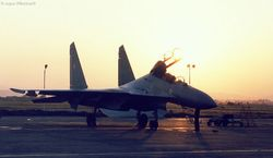 Flanker at sunset