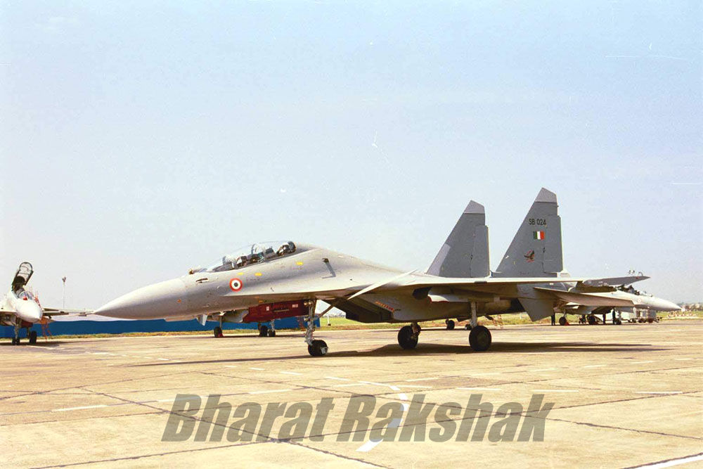 Flanker with Boss ready for takeoff
