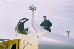 Gp Capt N Harish about to get into the cockpit of  PV-3 [KH2005]
