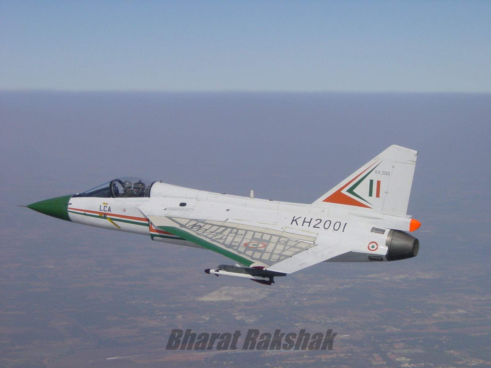 KH2001 during its fourth flight, on February 9th, at Aero India 2001