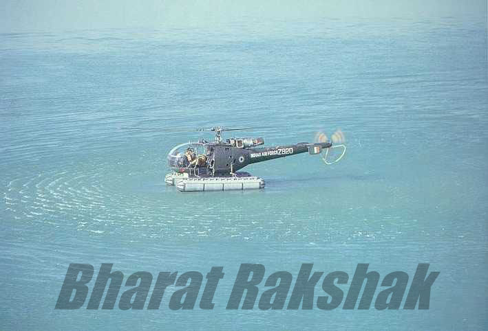 A HAL Chetak Z920 used for air-sea rescue off the Saurashtra coast.