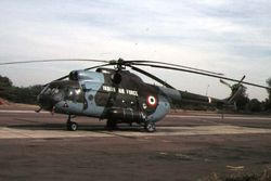 A Mi-8 (Z2404) lies parked. Unit is unknown.