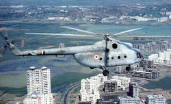 Mi-8 on Offshore Platform duties at Bombay