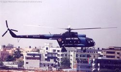 Mi-8 coming into land at Begumpet Air Port.