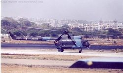 Mi-8 Z2345 after landing at Begumpet