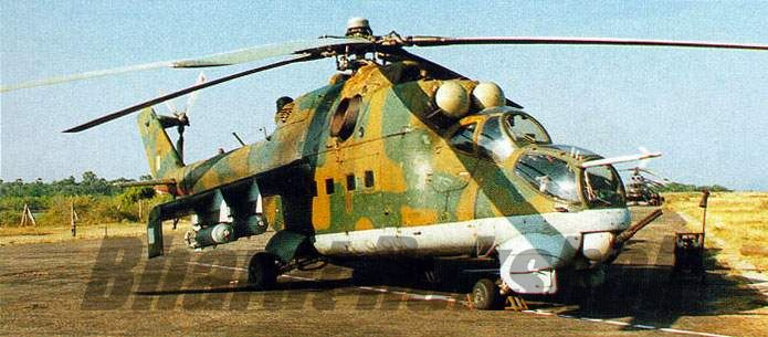 Mi-25 armed with bombs.