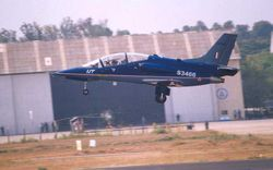 Take off  - the HJT36 takes to the air.