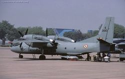 Antonov An-32 [K2693] at AFS Palam enclosure in Delhi .