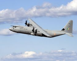 First flight of an Indian C-130J (KC3801)