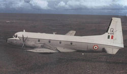 A HS.748M (H2378) from No.11 Rhinos Squadron