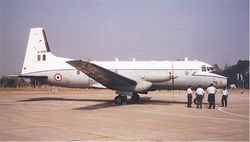 A HS.748M (H1175) on static display from Begumpet AFS.