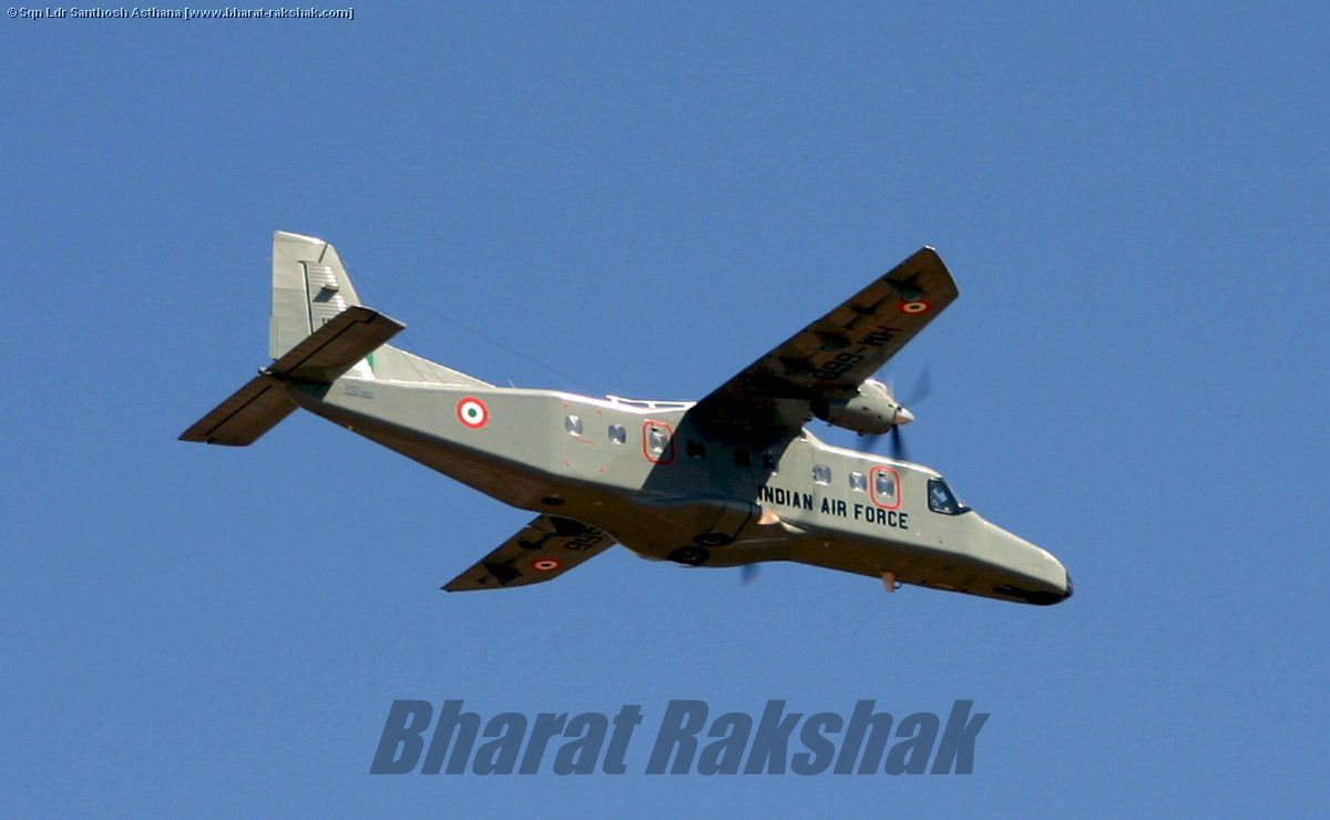 Dornier-228 [HM668] flying over Yelahanka.