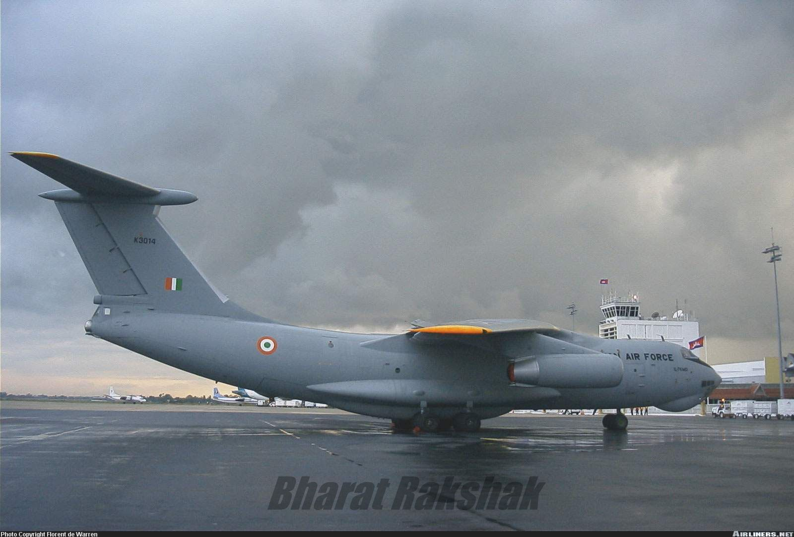 Il-76 [K3014] at Palam international airport.