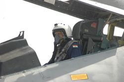 President Kalam flies the Sukhoi-30MKI at Lohegaon on 8 June