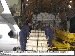 Unloading of supplies at Phillipines