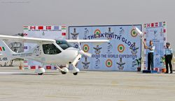 Flagging off the Microlight Expedition