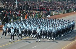 Republic Day 2008 Rehearsal - IAF Contingent